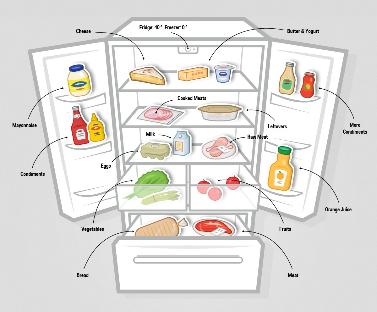 How To Store Food In The Freezer Diagram